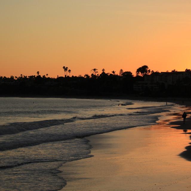 """Santa Barbara Sunset"" stock image"