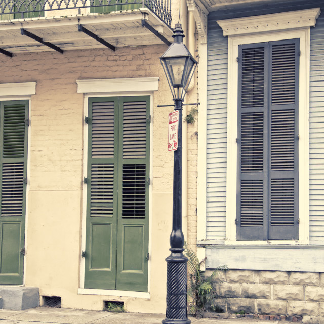 """New Orleans main street, architecture"" stock image"