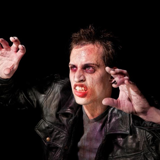 """""""Zombie in spotlight"""" stock image"""