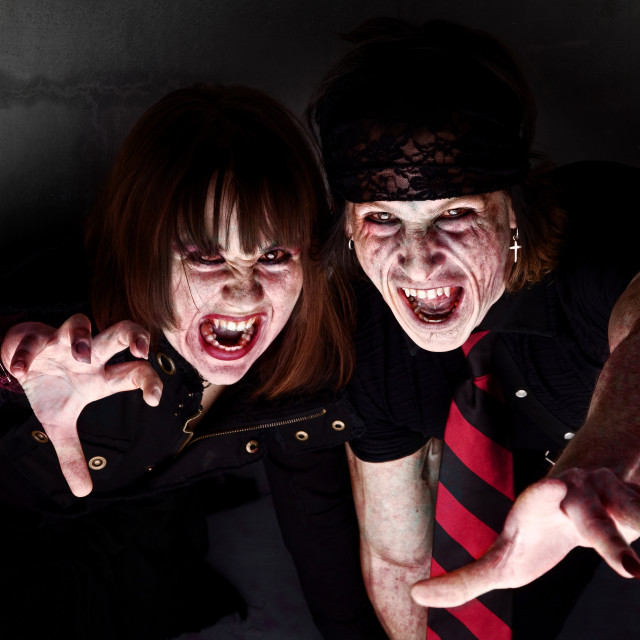"""""""Bloody Zombies"""" stock image"""