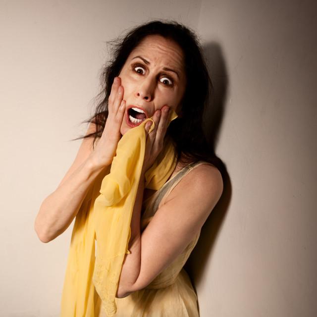 """Terrified Woman"" stock image"