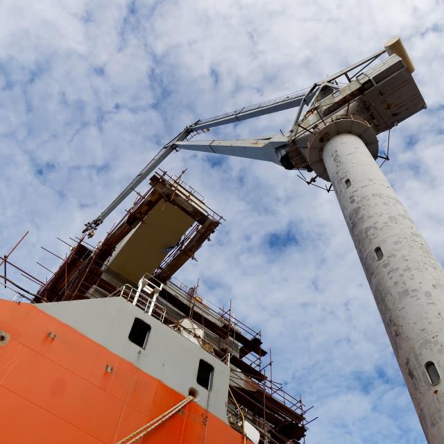 """Ship and crane"" stock image"