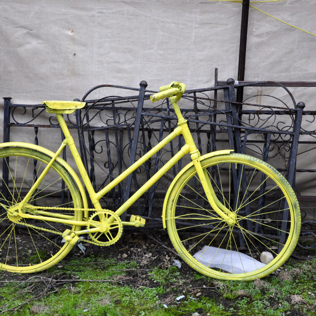 """Yellow Bike"" stock image"