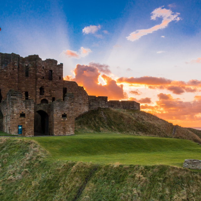 """Tynemouth Priory Sunrise"" stock image"