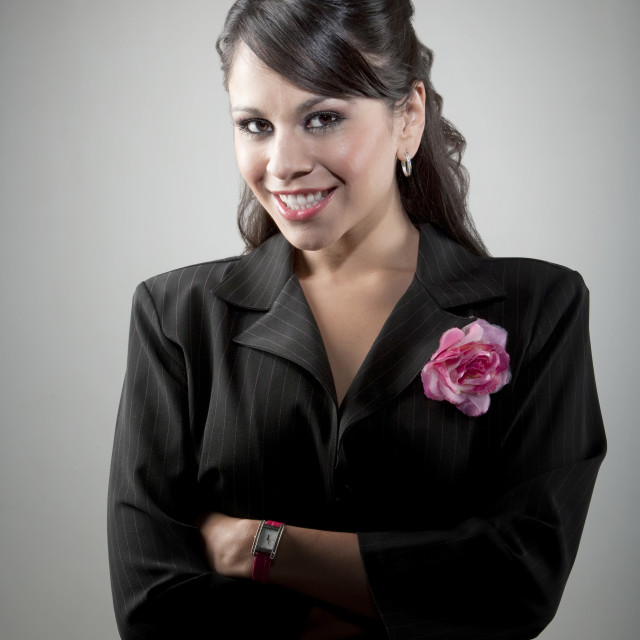 """""""Portait of young Latina businesswoman"""" stock image"""