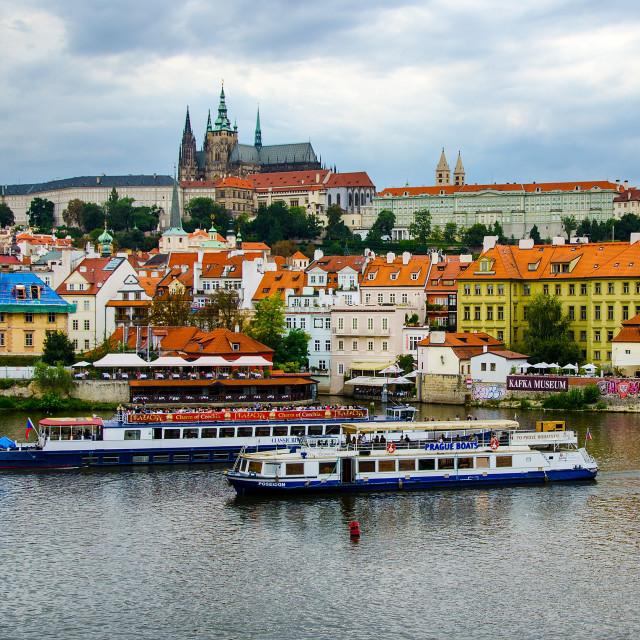 """Prague River."" stock image"