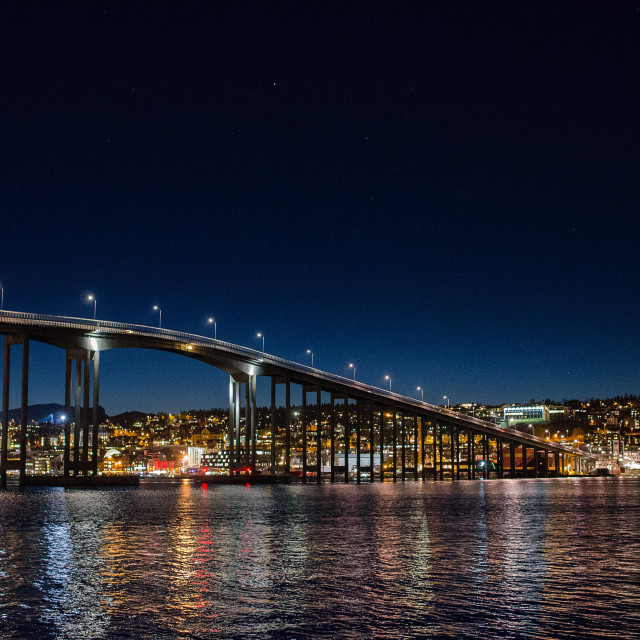 """Bridge to Tromso"" stock image"