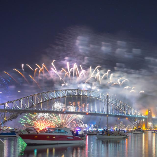 """Sydney New Year Eve Fireworks Show"" stock image"