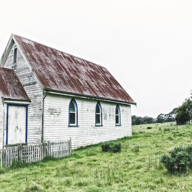"""Old church in New Zealand"" stock image"