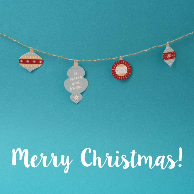 """""""Merry Christmas decoration paper vintage background"""" stock image"""