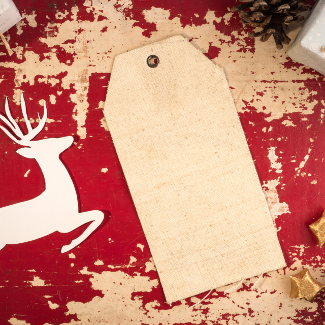"""""""Christmas vintage label top view vintage template"""" stock image"""