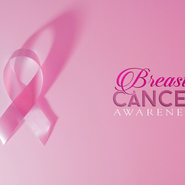 """""""Breast cancer awareness pink ribbon background"""" stock image"""