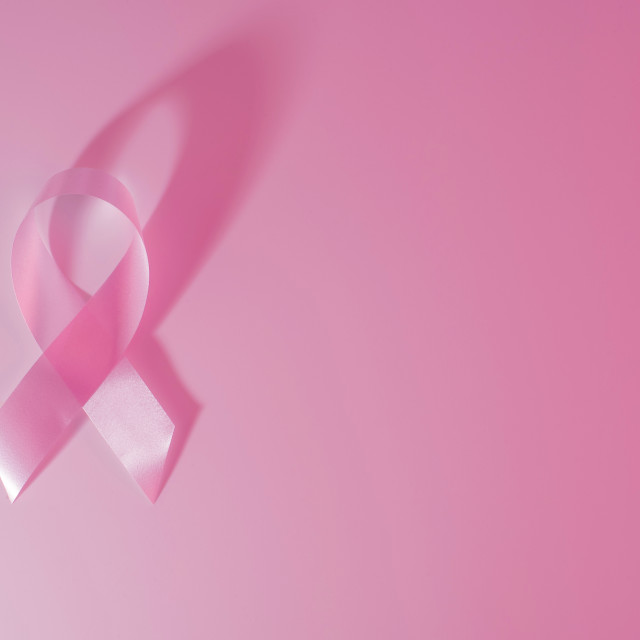 """""""Breast cancer awareness ribbon pink background"""" stock image"""