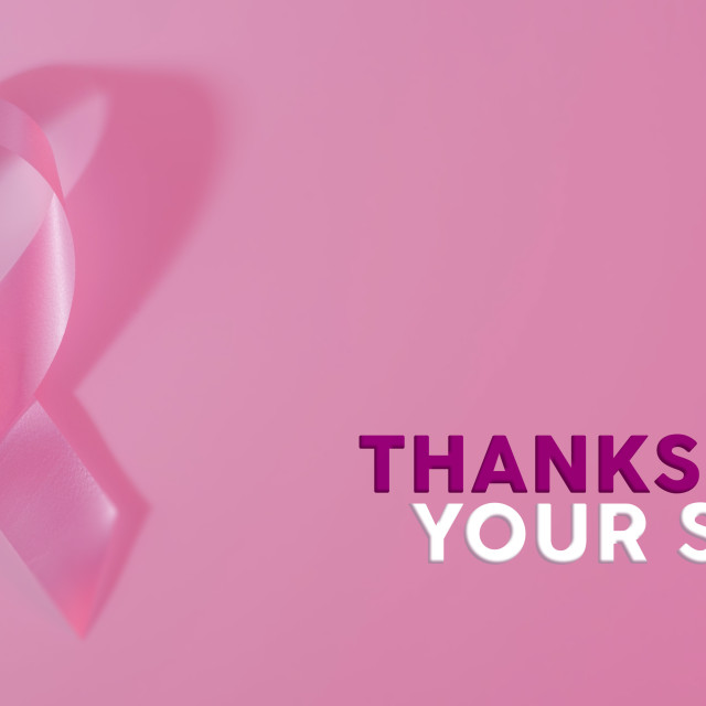 """""""Breast cancer awareness ribbon banner background"""" stock image"""
