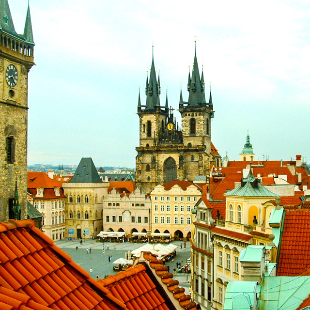 """Prague Rooftops"" stock image"