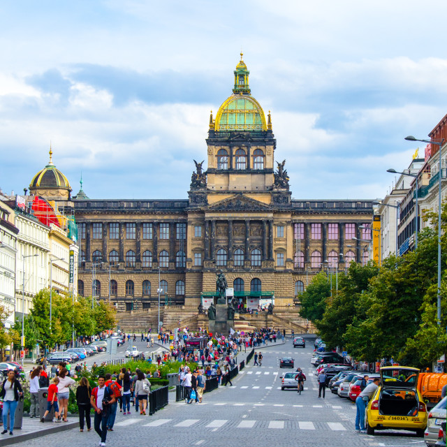 """The National Museum, Prague"" stock image"