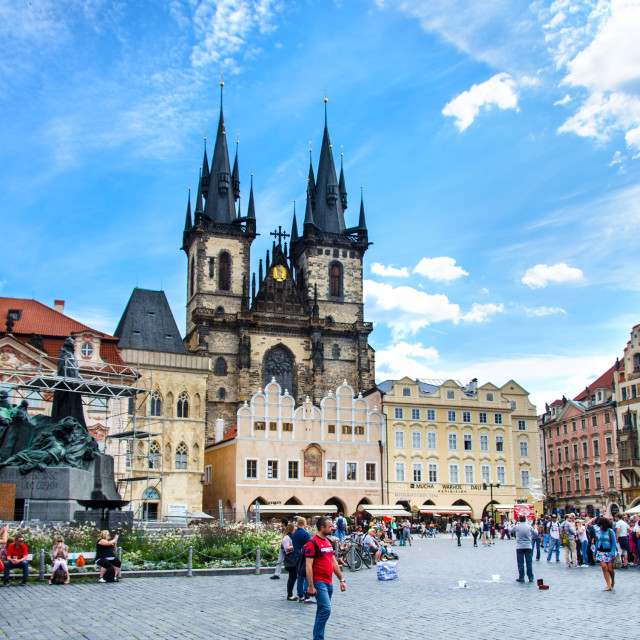 """Old Town Square, Prague"" stock image"