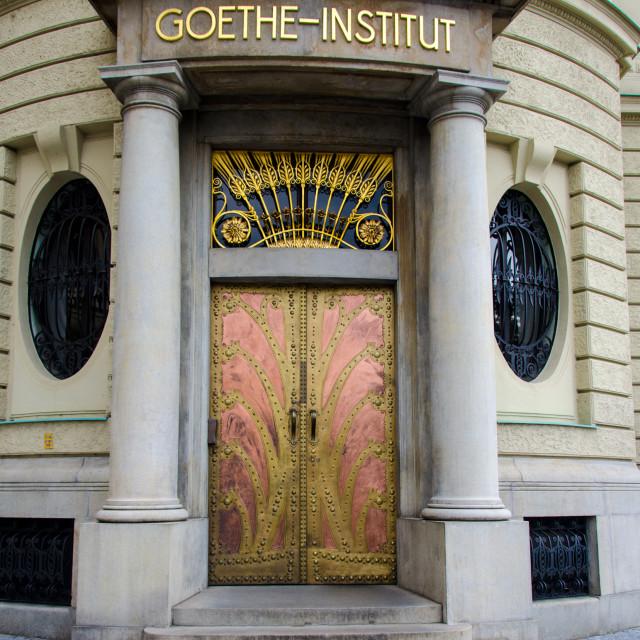 """""""Art Nouveau doorway"""" stock image"""