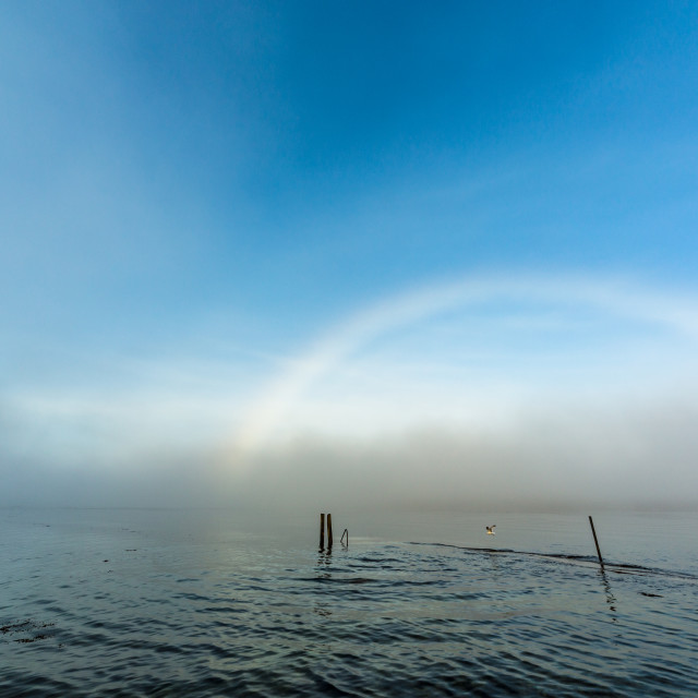 """Port Appin White Rainbow"" stock image"