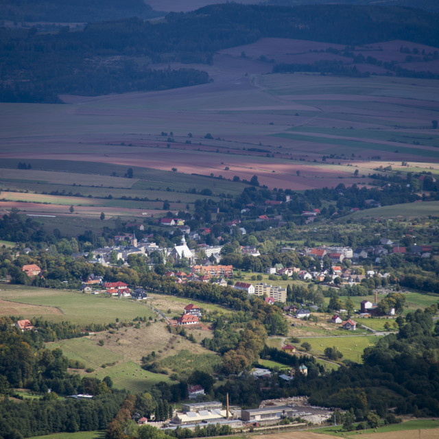 """village viwe from the top"" stock image"