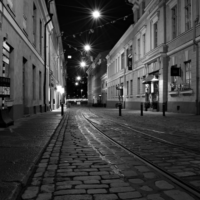 """Street at Night"" stock image"