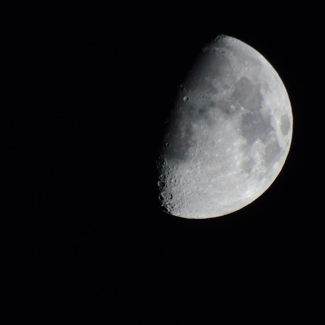 """""""Moon Over Manchester"""" stock image"""