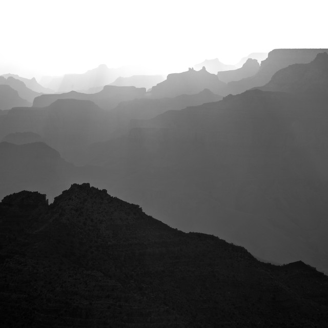 """Grand Canyon Ridges"" stock image"