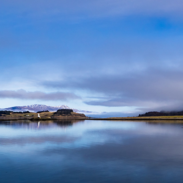"""Sgeir Bhuidhe Lighthouse Loch Linnhe"" stock image"