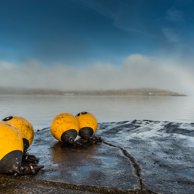 """Bouys left behind"" stock image"