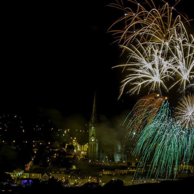 """Fire works Cobh"" stock image"