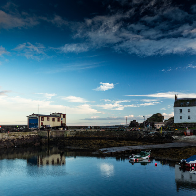 """St Abbs Harbour"" stock image"