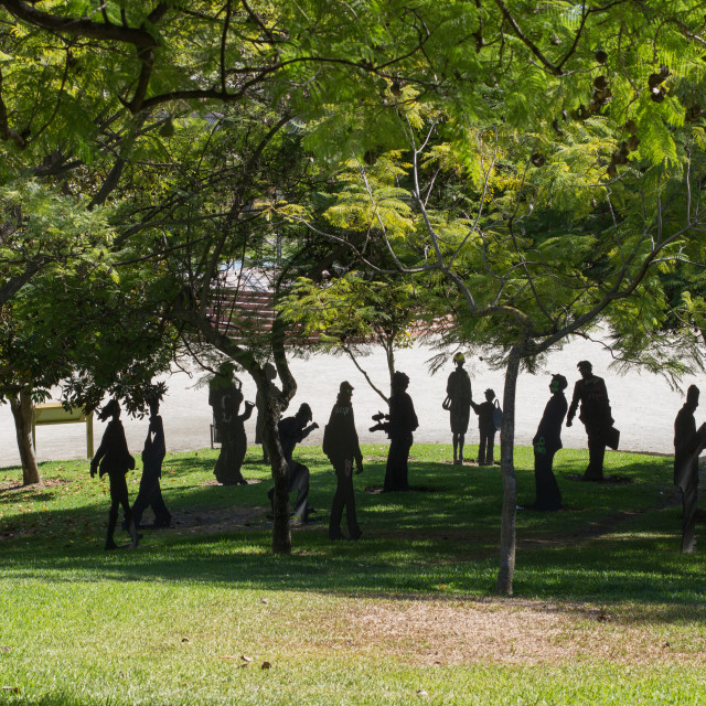 """""""Statues in the park"""" stock image"""