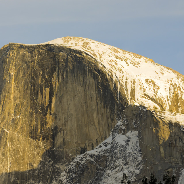 """Sunset on Half Dome in Yosemite valley"" stock image"