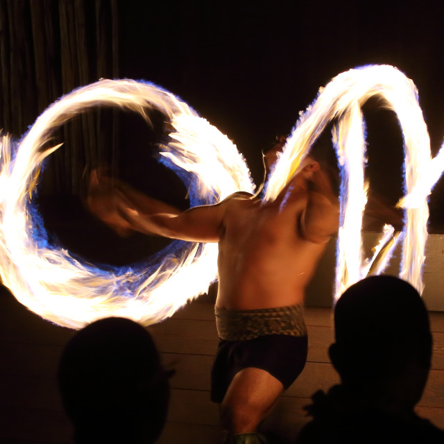 """Polynesian Fire show"" stock image"