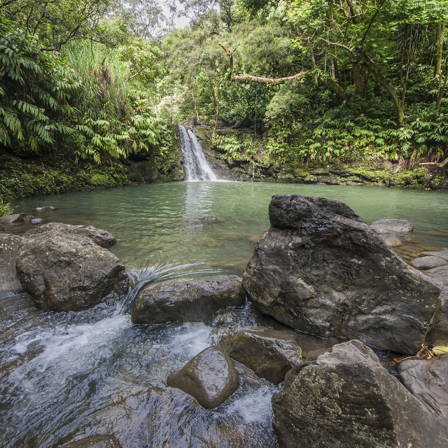 """Road to Hana waterfalls"" stock image"
