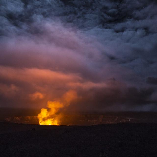 """Haleuma'Uma'u Crater"" stock image"