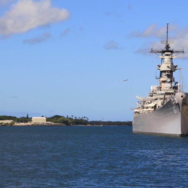 """USS Battleship Missouri Memorial"" stock image"