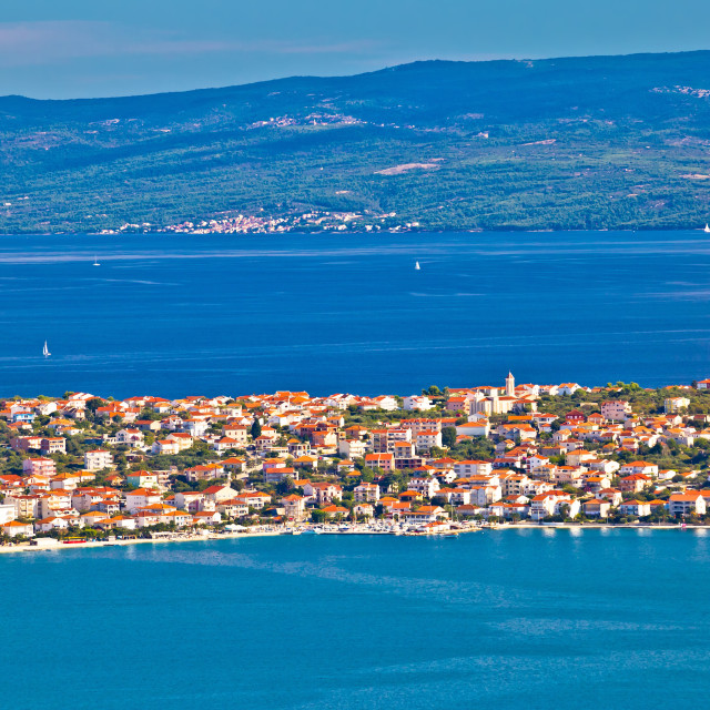 """Ciovo island aerial panoramic view"" stock image"