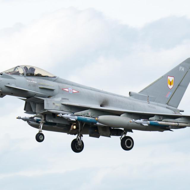 """""""Typhoon Landing"""" stock image"""