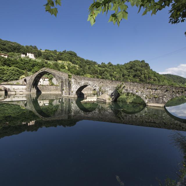 """""""Ponte della Maddalena Devil's bridge"""" stock image"""