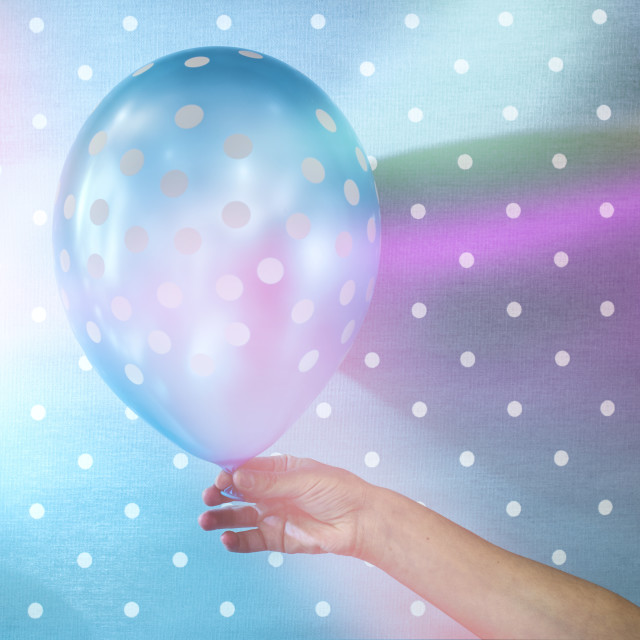 """Balloon with white points"" stock image"