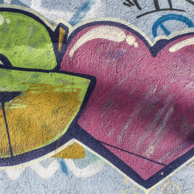 """Love graffiti on wall"" stock image"