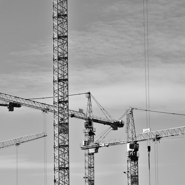 """Tower Cranes"" stock image"