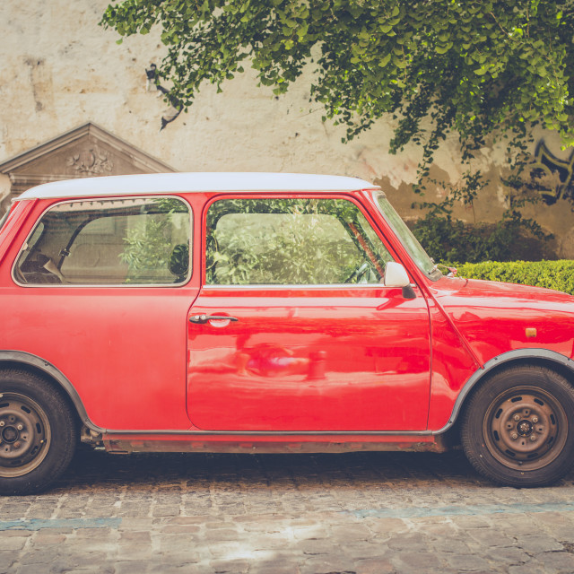 """Vintage small car"" stock image"