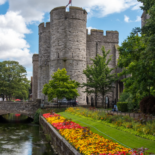 """Westgate Towers Canterbury"" stock image"