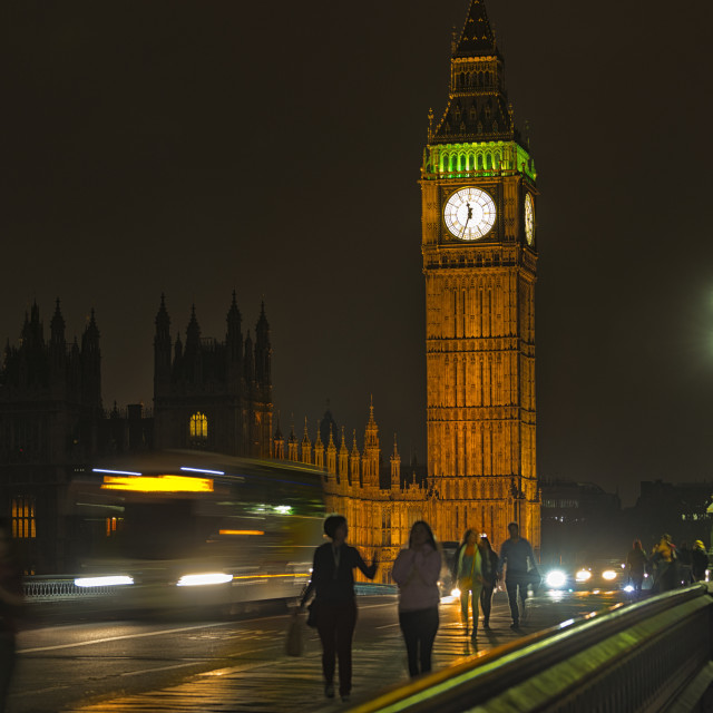 """Night Time in Westminster"" stock image"