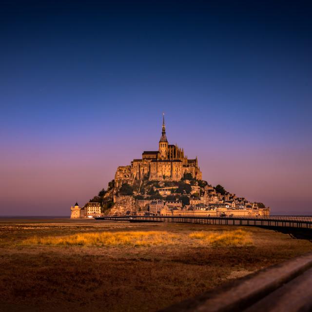 """""""Le Mont St. Michel"""" stock image"""