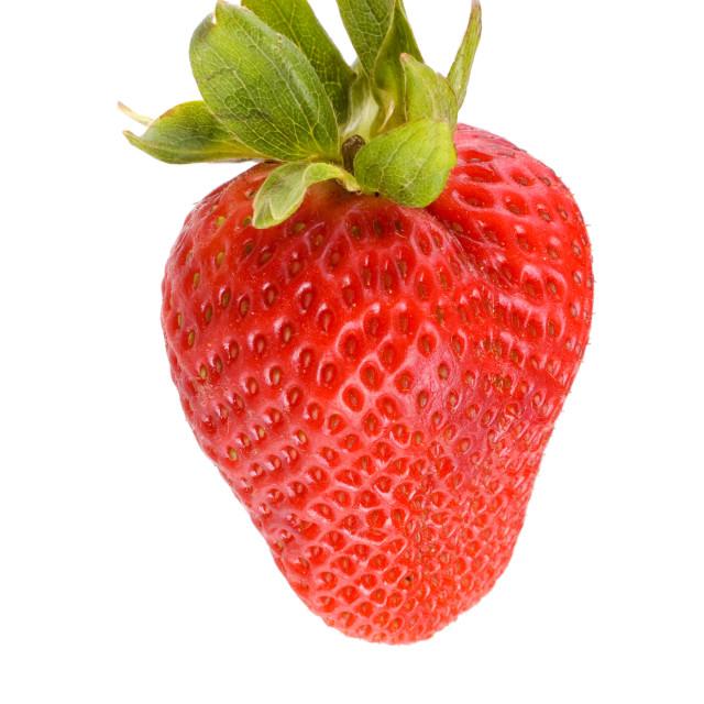 """""""Isolated fresh ripe strawberry"""" stock image"""