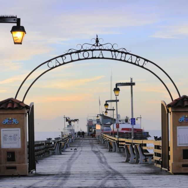 """Capitola Wharf"" stock image"