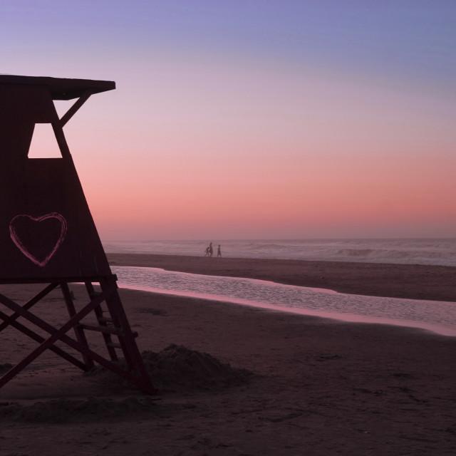 """Sunset love summer time"" stock image"